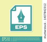 green eps file document icon.... | Shutterstock .eps vector #1407842312