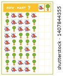 counting game  educational game ... | Shutterstock .eps vector #1407844355