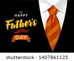 happy father s day vector... | Shutterstock .eps vector #1407861125