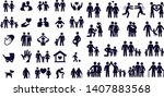 love and family life black  ... | Shutterstock .eps vector #1407883568