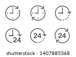 time clock dial and round the... | Shutterstock .eps vector #1407885368
