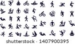 exercise and relaxation icons... | Shutterstock .eps vector #1407900395