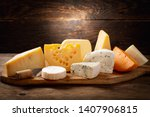 Various Types Of Cheese On A...