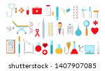 a large beautiful bright... | Shutterstock .eps vector #1407907085