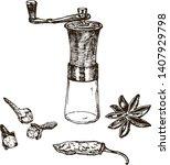 vector illustration of spices...   Shutterstock .eps vector #1407929798