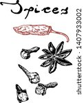 hand drawn sketch spices set....   Shutterstock .eps vector #1407933002