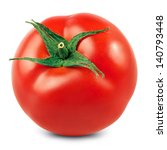 fresh red tomato isolated on... | Shutterstock . vector #140793448