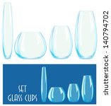 set of glass cups  vector | Shutterstock .eps vector #140794702