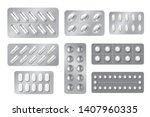 realistic blisters. medicine... | Shutterstock .eps vector #1407960335