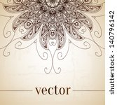 vintage vector circle floral... | Shutterstock .eps vector #140796142