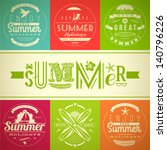 set of summer vacation and... | Shutterstock .eps vector #140796226