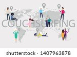 design concept of couchsurfing... | Shutterstock .eps vector #1407963878