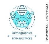 demographics turquoise concept... | Shutterstock .eps vector #1407969665