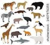 Big Animal Collection. Vector...