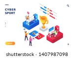 cybersport arena with gamers ... | Shutterstock .eps vector #1407987098