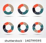 vector circle arrows for... | Shutterstock .eps vector #140799595