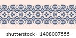 lace border. ikat seamless... | Shutterstock .eps vector #1408007555