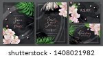 wedding invitation cards with... | Shutterstock .eps vector #1408021982