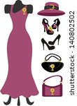 dress and accessories | Shutterstock .eps vector #140802502