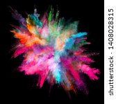 colored powder explosion on... | Shutterstock . vector #1408028315