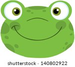cute frog smiling head. raster... | Shutterstock . vector #140802922