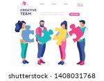 businessman partnership style ...   Shutterstock .eps vector #1408031768