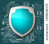 protected guard shield circuit... | Shutterstock .eps vector #1408038155