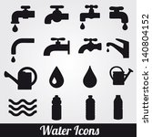 Water Related Icons Set.