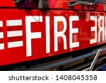 Close Up Of Fire Sign On The...