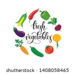 organic  fresh and natural... | Shutterstock .eps vector #1408058465