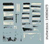 set of paint brush strokes | Shutterstock .eps vector #140806075