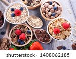 bowls containing different... | Shutterstock . vector #1408062185