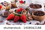 bowls containing different... | Shutterstock . vector #1408062188