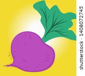drawn vegetable beet isolated... | Shutterstock .eps vector #1408072745