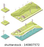 vector isometric wind farm... | Shutterstock .eps vector #140807572