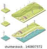 vector isometric wind farm... | Shutterstock .eps vector #140807572