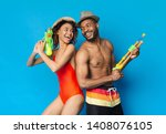 summer game. playful black... | Shutterstock . vector #1408076105