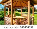 Inside Of Wooden Gazebo