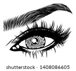 illustration with woman's eye ... | Shutterstock .eps vector #1408086605