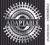 adaptable silver badge or...   Shutterstock .eps vector #1408088012