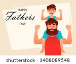 happy father's day greeting... | Shutterstock .eps vector #1408089548