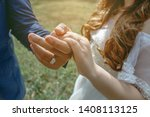 the asian couple holding hands... | Shutterstock . vector #1408113125