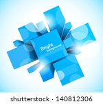 abstract background with blue... | Shutterstock .eps vector #140812306