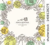 background with arnica montana  ... | Shutterstock .eps vector #1408128275