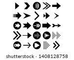 set of vector arrows. arrows... | Shutterstock .eps vector #1408128758
