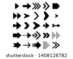 set of vector arrows. arrows... | Shutterstock .eps vector #1408128782