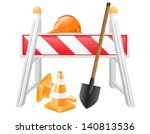 Постер, плакат: objects for road works