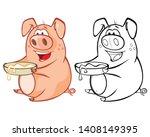 vector illustration of a cute... | Shutterstock .eps vector #1408149395