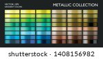 color collection. metallic blue ... | Shutterstock .eps vector #1408156982