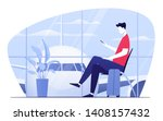 vector illustration of a young... | Shutterstock .eps vector #1408157432